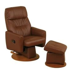 Hubert Leather Swivel Rocker Recliner Armchair with Footstool Recliner Armchair, Free Delivery, Chairs, Amazon, Leather, Furniture, Home Decor, Homemade Home Decor, Amazons