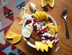 Tropical Cacao Smoothie Bowl with a Kick