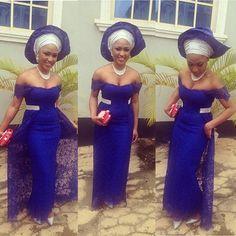 iro and buba lace   Wedding Glam #15: Lace Asoebi Trend