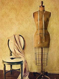 Lovely dress form and chair art