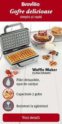 Reteta Biscuiti de la Bunica Ketchup, Waffle Iron, 20 Min, Croissant, Dessert Bars, Pasta, Waffles, Cheesecake, Deserts