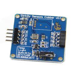 4-in-1 Temperature + Pressure + Altitude + Light Sensor Module For RPI / Arduino
