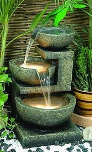 Alfresco Home Rocca Decorative Outdoor Fountain with Pump and Light| Home Furniture and Patio
