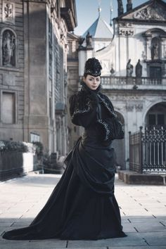 "the-dark-drive: ""Victorian Winter Gothic Costume by BlackMart """