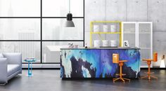 Awesome Tie Dye Kitchen Neo u Uber Contemporary Loft Kitchens from Nolte of Germany