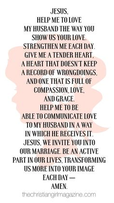 A prayer for your husband: read the full article on how to love your husband with a Christ-like love at thechristiangirlmagazine.com |: