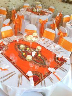 Mariage de Cory und Floris au domaine du parc – Le – Hibiscus Events - New Sites African Wedding Theme, African Theme, African Wedding Dress, Reception Decorations, Event Decor, Table Decorations, Christmas Decorations, Traditional Wedding Decor, African Home Decor