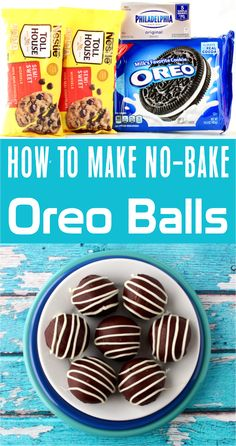 Easy Dessert Recipes! If you're wondering how to make oreo balls, look no further. This simple to follow, no bake dessert is a treat that'll satisfy the pickiest of taste buds. Give them a try this week! Oreo Cookie Recipes, Delicious Cookie Recipes, Fudge Recipes, Yummy Cookies, Easy Recipes, Dessert Recipes, No Bake Oreo Balls Recipe, Pecan Fudge Recipe, 5 Ingredient Desserts