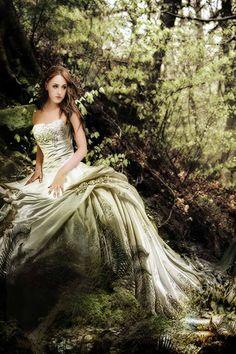 lady in the forest