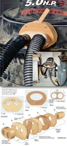 Shop Vacuum Blast Gate - Dust Collection Tips, Jigs and Fixtures | WoodArchivist.com