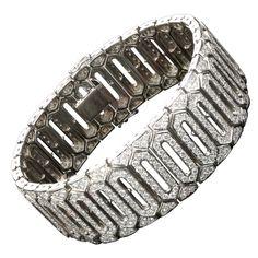Unique Magnificent 17 Carat Diamond Tennis Bracelet