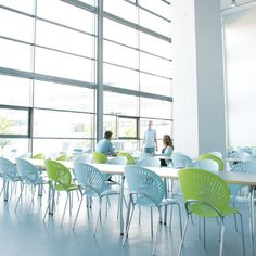 Colorful Trinidad Chairs - http://www.danishdesignstore.com/products/trinidad-dining-chair-by-nanna-ditzel-manufactured-under-license-in-denmark-by-fredericia-furnitur-1