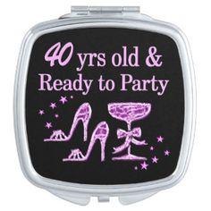 PURPLE SPARKLING 40TH VANITY MIRROR http://www.zazzle.com/jlpbirthday/gifts?cg=196772411273974202 #40thbirthday #40yearsold #Happy40thbirthday #40thbirthdaygift #40andfabulous #turning40  #happy40th