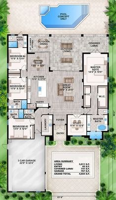 Coastal Plan: Square Feet, 4 Bedrooms, Bathrooms – - Home & DIY House Plans South Africa, Florida House Plans, Coastal House Plans, Cottage House Plans, Craftsman House Plans, Country House Plans, New House Plans, Dream House Plans, Split Level House Plans
