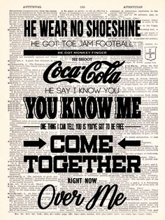 The Beatles Come Together Lyrics