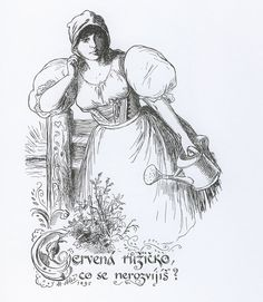 File:Mikoláš Aleš, Špalíček Art: This drawing is by Mikoláš Aleš, a famous painter from Czech Republic. Mikoláš Aleš was one of the most significant representatives of Czech nationally oriented painting. European Countries, Ink Pen Drawings, Wikimedia Commons, Vintage Cards, Beautiful Paintings, Fashion History, Art And Architecture, Czech Republic, Celtic