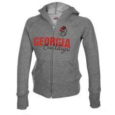 Georgia Bulldogs Youth Girls Full Zip Hoodie - Ash
