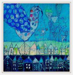 Jour et Nuit... Elke Trittel acrylic on paper 25x25cm