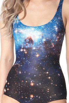 Galaxy Blue Swimsuit | Black Milk Clothing