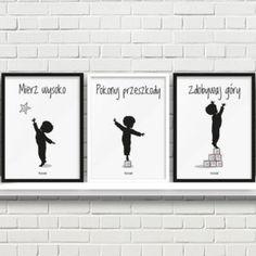 plakaty dla dzieci do pokoju chłopca mierz wysoko a Girls Bedroom, Sentences, Baby Room, Diy And Crafts, Kids Room, Sweet Home, Lily, Classroom, Prints