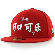 new era CC INTERNATIONAL CHINESE COKE rot/weiß
