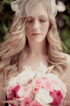 beautiful pink bouquet via La de da Photography
