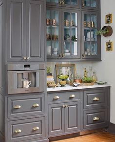11 Genius Small Kitchen Ideas With Sky-High Cabinets Black Kitchen Cabinets cabinets Genius ideas kitchen SkyHigh Small Black Kitchen Cabinets, Custom Kitchen Cabinets, Custom Kitchens, Grey Kitchens, Modern Farmhouse Kitchens, Kitchen Cabinet Design, Cool Kitchens, Kitchen Decor, Kitchen Ideas