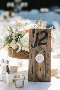 Love these table numbers! Photography By / mariannewilson.net