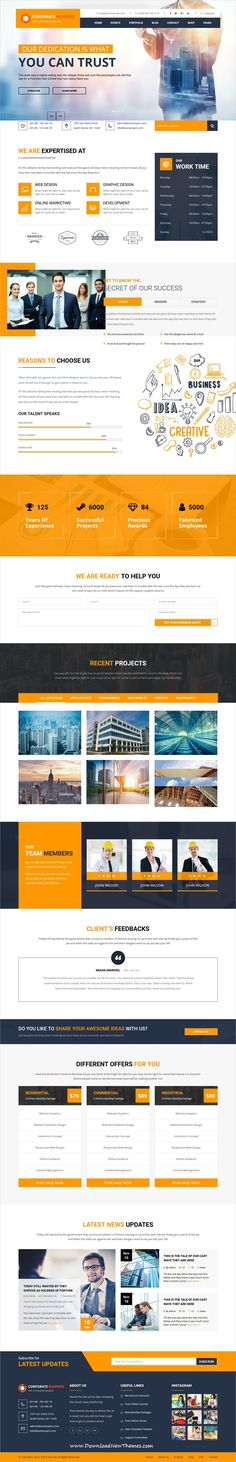 Professional clean and modern design 4in1 #responsive HTML bootstrap #template for business #agency #website to download & live preview click on image or Visit 👆 #webdeveloper