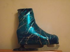 Ice-Roller-Skate-Boot-Covers-Lycra-Lightening-Foiled-Purple-or-Turquoise