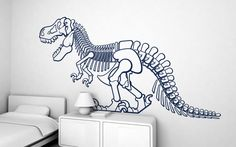 t-rex dinosaur (XXL) wall decal - children's wall stickers for baby nursery or kids room by E-Glue studio
