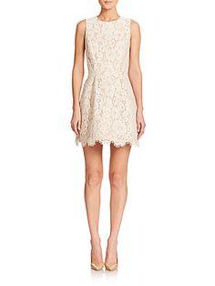 Alice   Olivia Leann Lace Dress