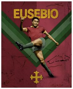 World Cup Legends Eusebio God Of Football, Football Icon, Retro Football, Football Design, Football Art, National Football Teams, World Football, Vintage Football, Cr7 Portugal