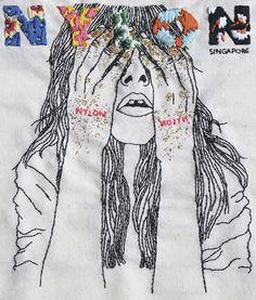 Izziyana Suhaimi embroidered drawing