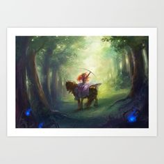Brave Art Print by Hart-coco - $18.00