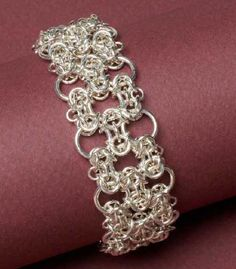Beautiful chain mail bracelet from Sue Ripsch. See more in her book Classic Chain Mail Jewelry with a Twist!