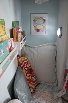 child reading nook for kids ; child reading nook under stairs ; reading nook for child Reading Nook Closet, Closet Nook, Reading Nook Kids, Kid Closet, Closet Bedroom, Closet Storage, Closet Ideas, Closet Wall, Closet Space