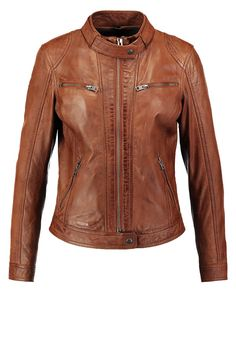 Oakwood Lederjacke - cognac - Zalando.at