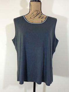 Ming Wang top lagenlook shirt artsy art to wear designer black gray sz 1X #MingWang #BasicJacket #EveningOccasion