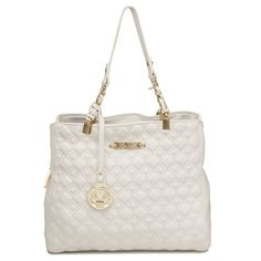 Loving this Versace 1969 White Quilted Birmingham Satchel on 215797cbaabf5
