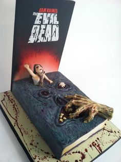 Evil Dead necronomicon cake. My birthday is at the end of the month- may just need something like this. Also, it makes me want to say Necronom..nom...nom..