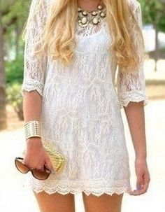 White lace dress #bridesmaid dresses #bridal dresses #wedding dress #girls dress #formal dress #black dresses #dress #dresses #long dresses #fashion #dresses casual #printed dresses #evening dresses #long lace dress #short dress