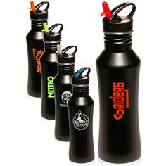 Great to get personalized and custom printed for your promotional events. Promotional Giveaways, Promotional Events, Promotional Water Bottles, Brand Names And Logos, Wall Logo, Personalized Water Bottles, Stainless Steel Water Bottle, How To Memorize Things, Things To Sell