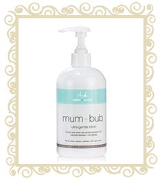 Aden+Anais Mum & Bub Ultra Gentle Lotion  Aden+ Anais have created this delicate, nourishing lotion for mother and baby. 12floz/350ml Key ingredients: pawpaw fruit extract (Carica Papaya), Shea butter (skin conditioning agent) and lightly scented with Australian Sandalwood. Free of: phytoestrogen, parabens, petroleum oils, phthalates, gluten and soy.  $24.95