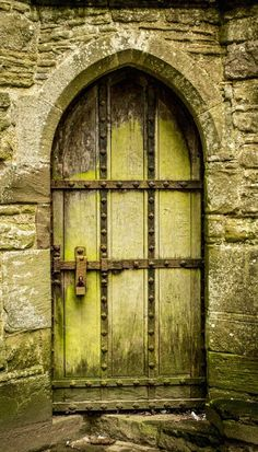Amazingly beautiful ancient wooden #door of Tintern Abbey - Tintern, Monmouthshire, Wales.