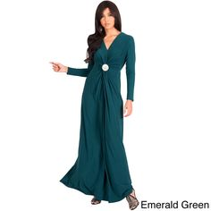 Global KOH KOH Womens Semi Formal Flowy Fall Long Sleeve Gowns Maxi Dresses + Free Gift