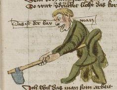 Thomasin <Circlaere>   Welscher Gast (b) Nordbayern (Eichstätt?), um 1420 Cod. Pal. germ. 330 Folio 19r
