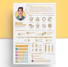 An unbeatable resume is your first step to get hired by your beloved company. Resume is a great opportunity to show that you have a decent sense of good, clean design. That`s helpful in any industry Graphic Design Resume, Graphisches Design, Resume Design Template, Creative Resume Templates, Branding Design, Clean Design, Creative Resume Design, Design Trends, Infographic Resume Template