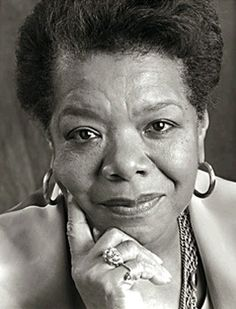"This is the great Maya Angelou! Reading her poetry took my reading to another level. I was like who wrote this stuff. A lot of her poems hit me right in the soul. ""Still I Rise,"" is probably my favorite poem that she wrote. There are so many of her poems that I like. She's an inspiration!"
