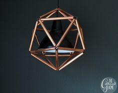 DIY Copper Pipe Pendant Light - surprisingly cheap to make with an IKEA lamp kit